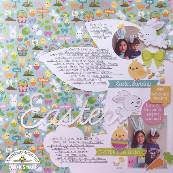 Easter Bunny Silhouette Layout