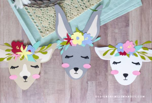 Spring Animals with Flower Crowns Download