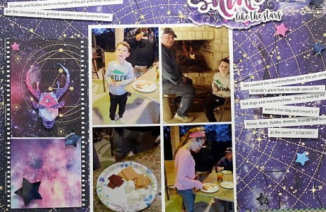 Stargazing Scrapbook Layout