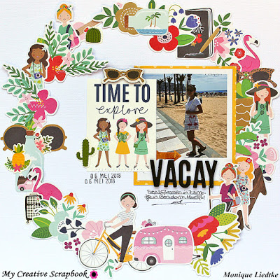 Vacation Wreath Layout