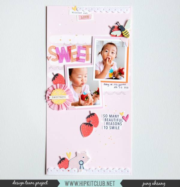 "6"" x 12"" Strawberry Scrapbook Page"
