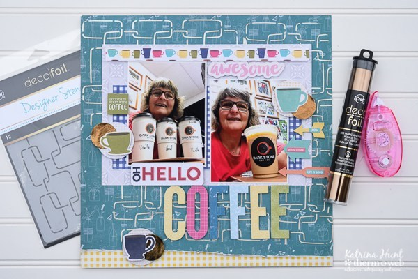Deco Foil and Stencil Background Coffee Page