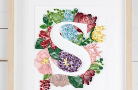 Quilling Monogram Home Decor Project