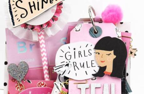 Girly Mini Tag Book