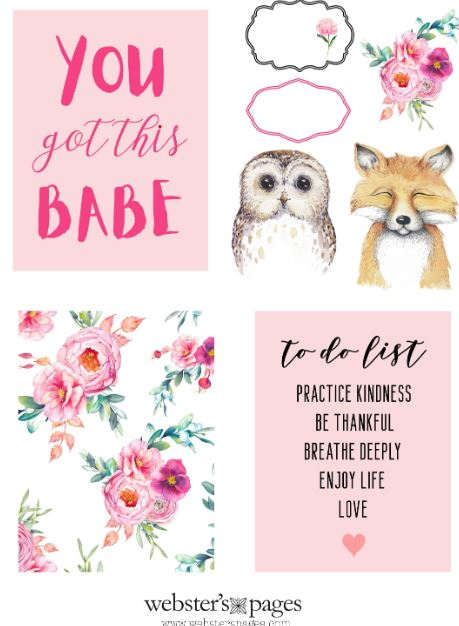 Woodland and Floral Cards Download