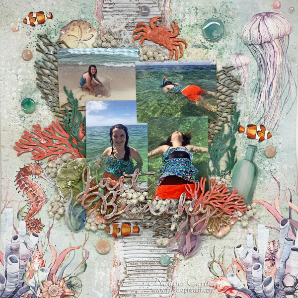 Beach Mixed Media Page