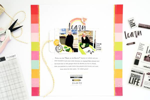Learn Scrapbook Page