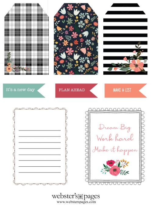 Tags and Journal Cards Download