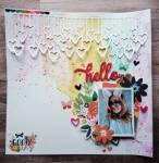 Rainbow Watercolor Wash Layout