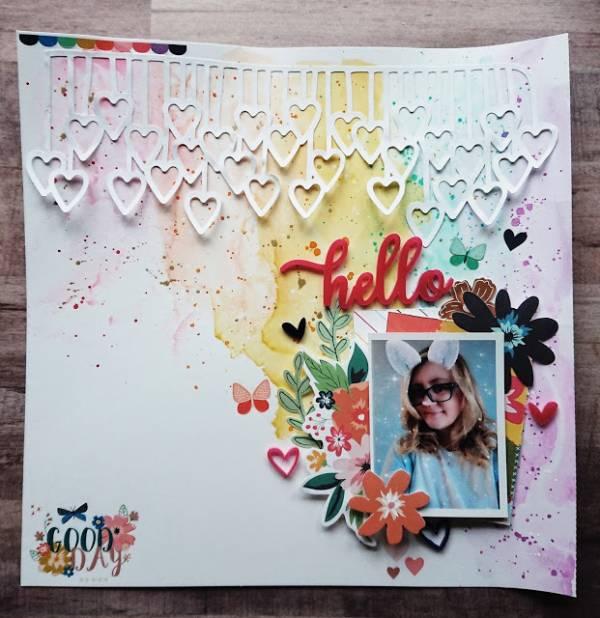 Rainbow Watercolor Wash Layout