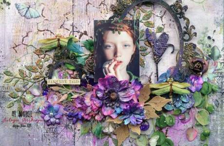 Fairy Tale Mixed Media Layout