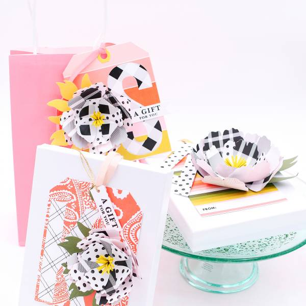 Large Floral Tags