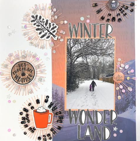Stitched Snowflakes Layout