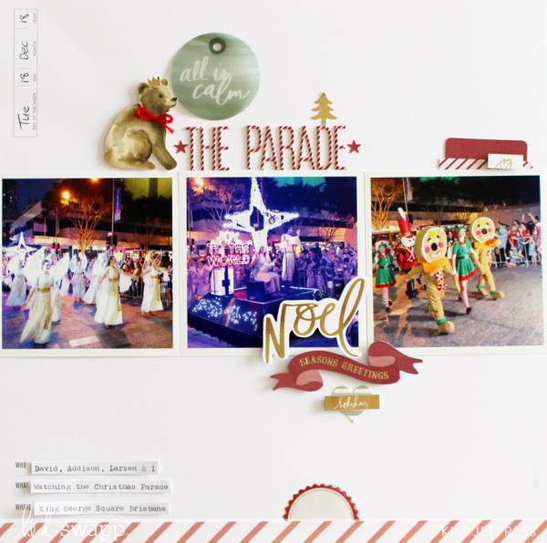 Christmas Parade Layout