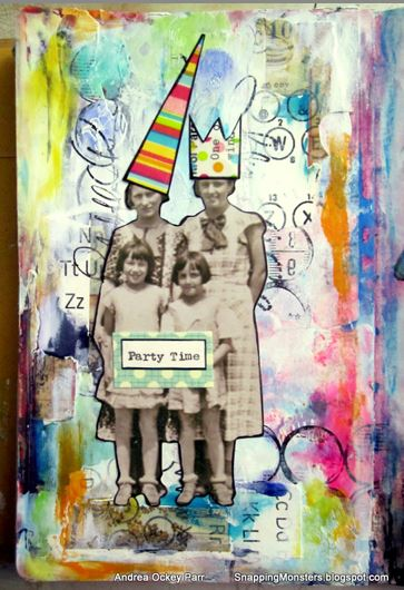 Mixed Media Birthday Layout