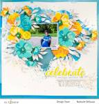 Flowers and Watercolor Layout
