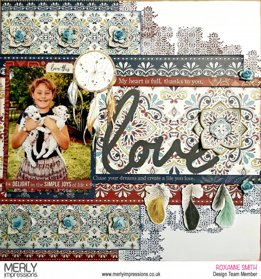 Boho Love Layout