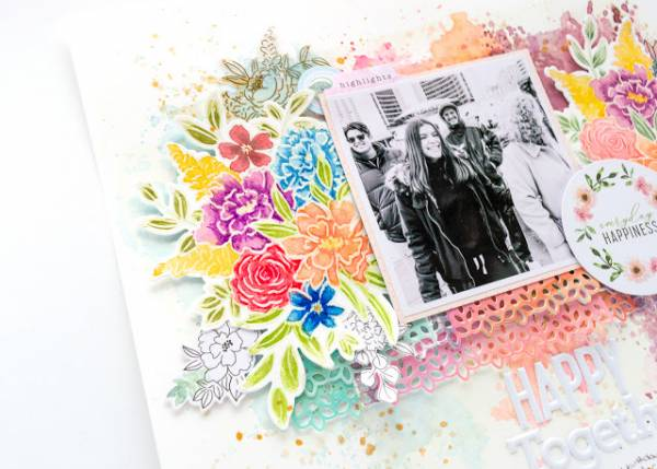 Floral Watercolor Layout