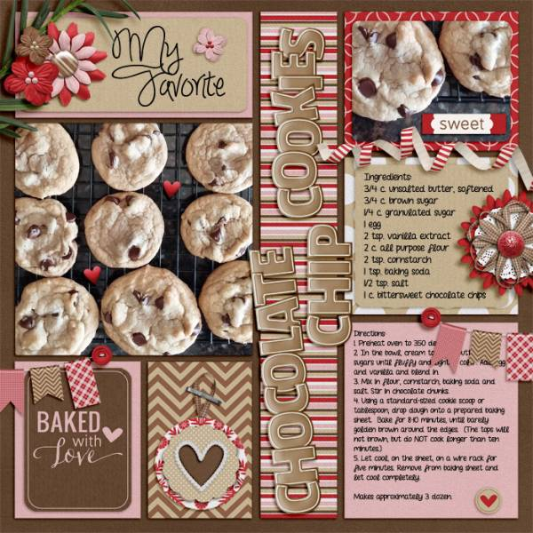 10 Recipe Scrapbook Layouts