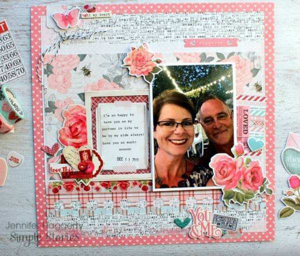 Romantic Valentine Layout