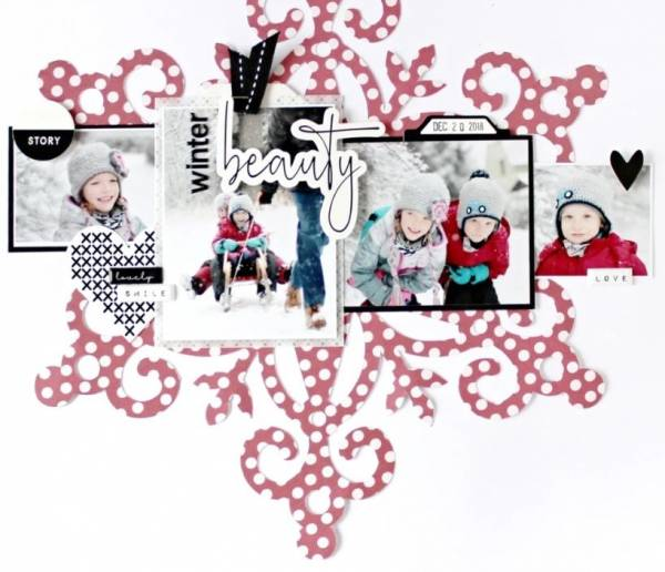 Winter Snowflake Layout