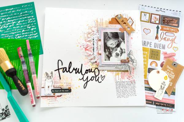 Fabulous Dog Scrapbook Layout