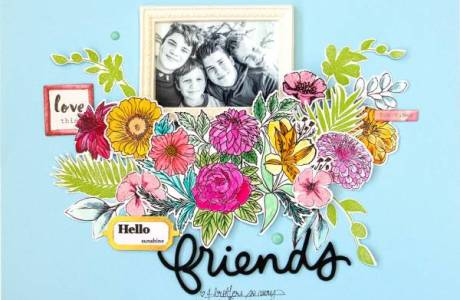 Floral Friend Layout