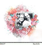 Valentine Page with Painted Background