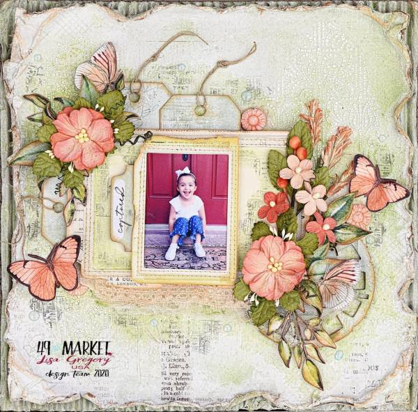 Vintage Inspired Botanicals and Butterflies Page
