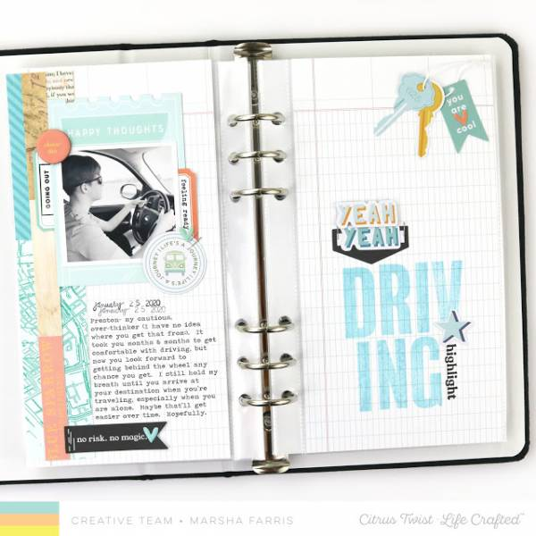 Driving Traveler's Notebook Pages