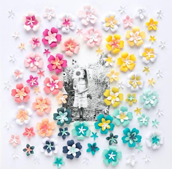 3D Flower Scrapbook Page