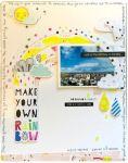 Rainbow Scrapbook Layout