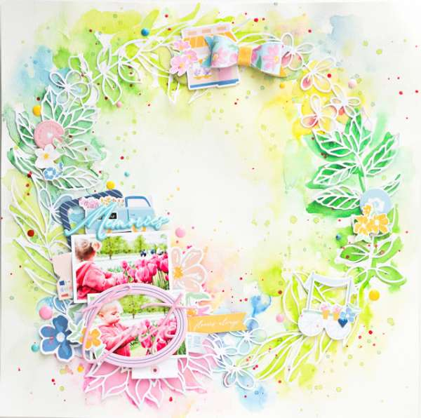 Spring Wreath Layout