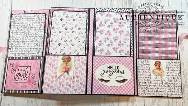 Vintage Ladies Fashion Mini Album