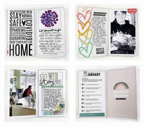 Corona Virus Traveler's Notebook with Freebies