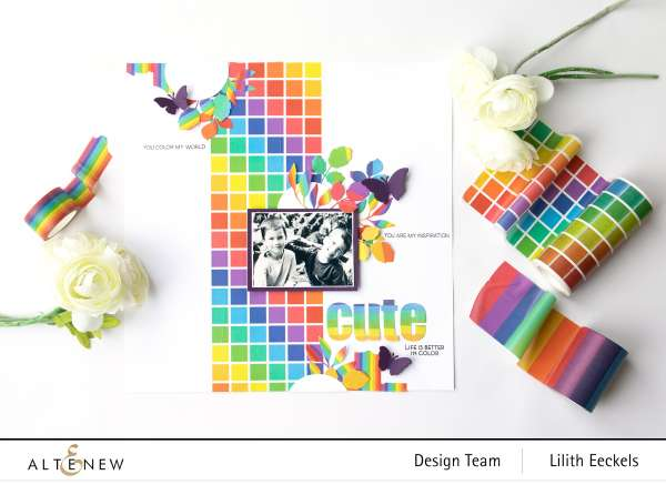 Rainbow Washi Tape Layout