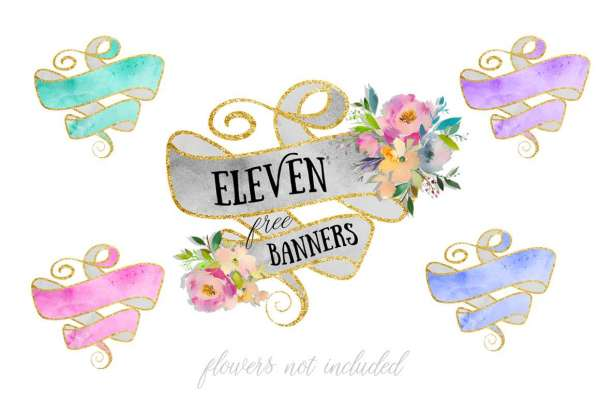 Watercolor Banners Printables
