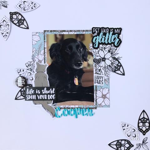 Photo Focus Dog Layout