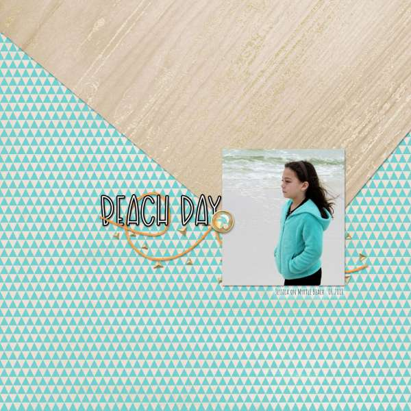 Beach Day Focal Layout – Scrap Booking