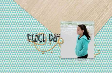 Beach Day Focal Layout