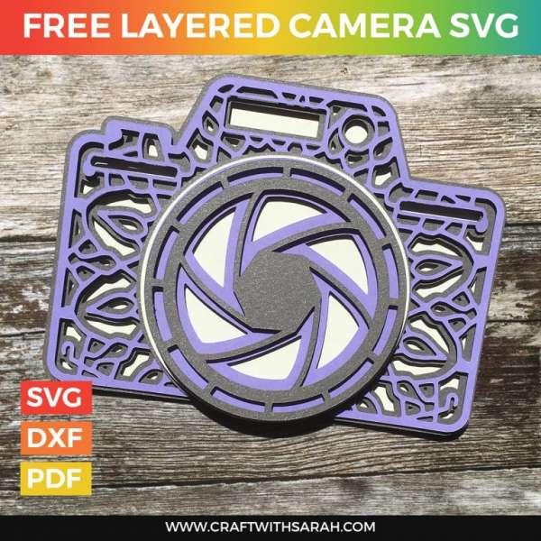 Camera Layered Die Cut File