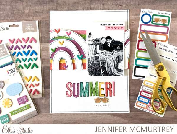 Summer Rainbow Layout
