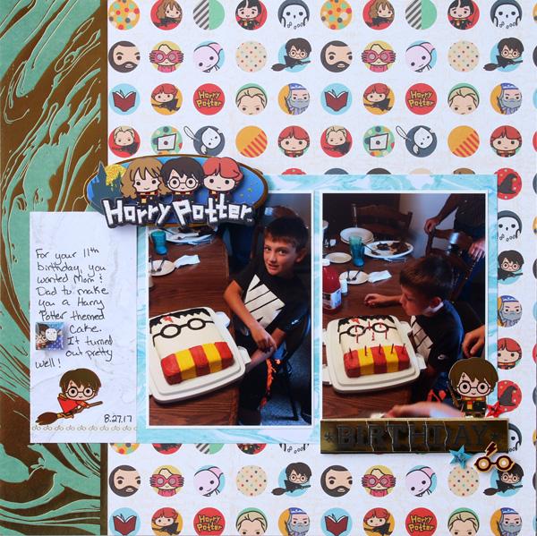 Harry Potter Birthday Layout
