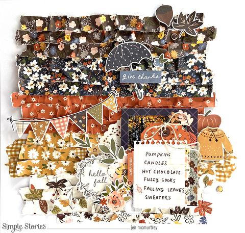 Textured Fall Layout