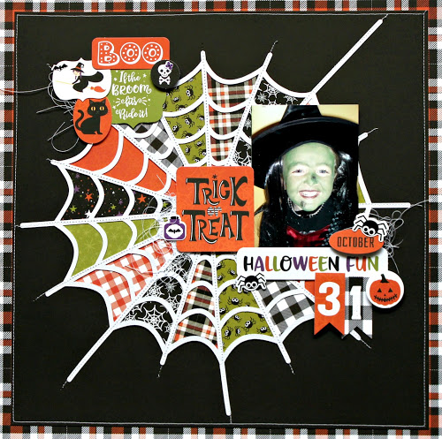Halloween Spider Web Page