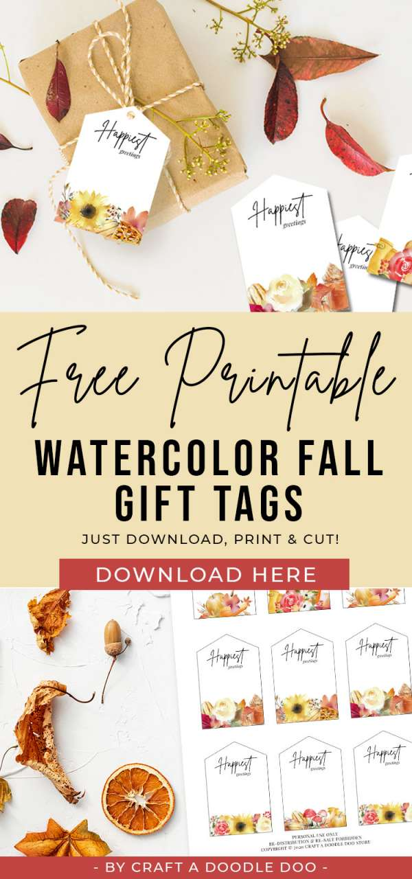 Fall Tags Printable