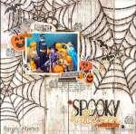 Spooky Spiderwebs Layout