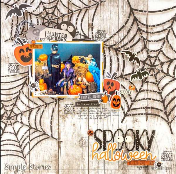 Spooky Spiderwebs Layout