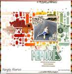 Stenciled Background Layout