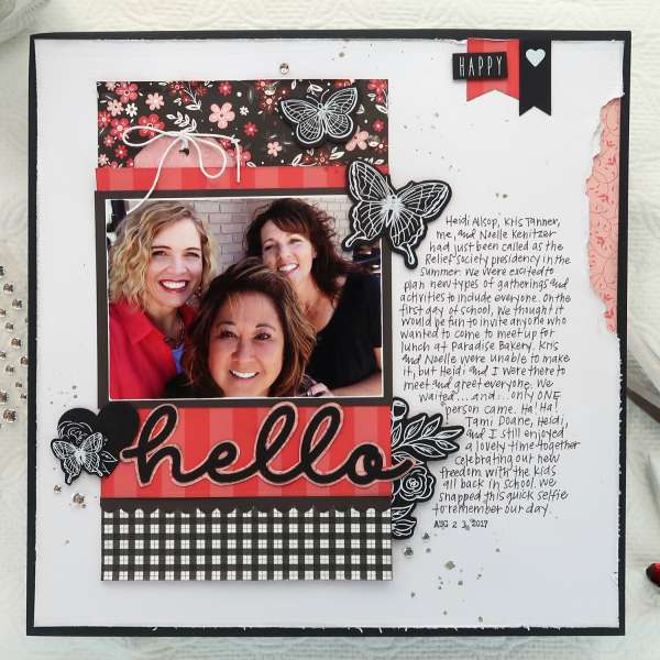 Pattern Paper Strips Layout